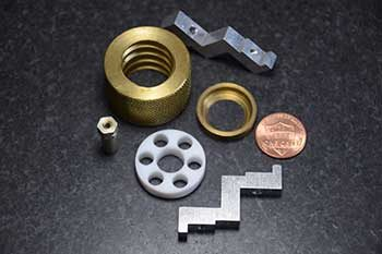 tiny manufactured parts