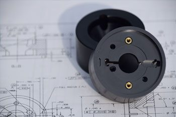 milled part with plans